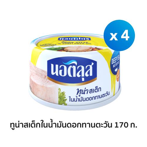Nautilus-Tuna-Steak-In-Sunflower-Oil-Can-Pack4